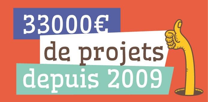 33 000€ de projets depuis 2009!