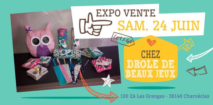 Expo Vente chez Drôle de Beaux Jeux